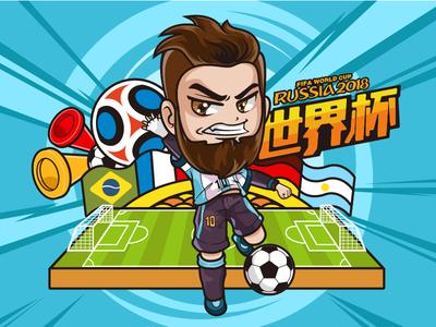 FIFA - World Cup - Leo messi - llustration messi soccer color llustration cup world fifa