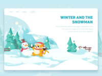 winter and snowman-illustration
