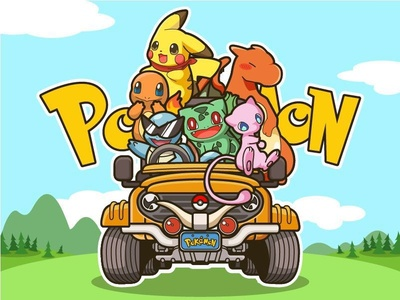 Pokémon- illustration pikachu illustrations pokemon go pokemon design illustration color