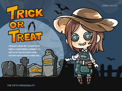 Happy Halloween-illustration treat trick girl the fifth personality halloween design illustration color