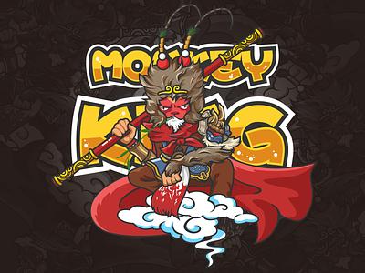 Monkey King-illustration design man monkey king illustrations super hero illustration color