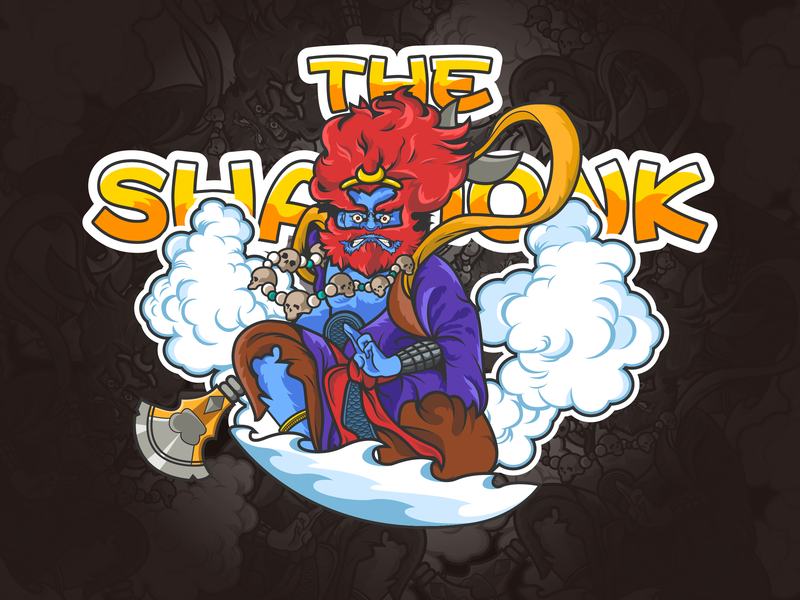 The Sha Monk-illustrations journey to the west the sha monk man hero super illustrations color