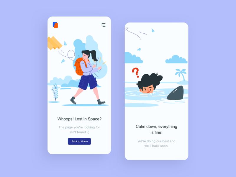 Location Lost   Mobile Apps Illustration