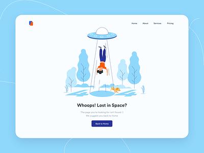 Page Not Found Desktop Illustration page 404 error web website illustration ui