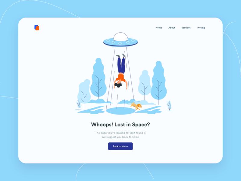 Page Not Found Desktop Illustration
