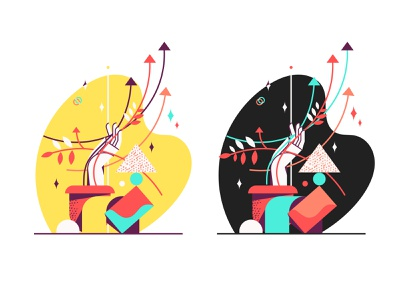 growth branding geometry web design vector icon web illustration
