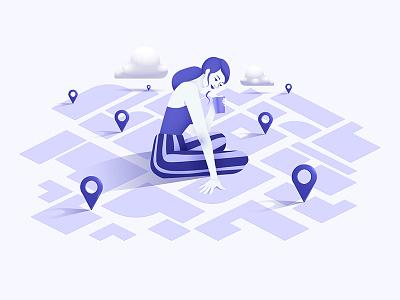 Tourism web turism design vector girl illustration