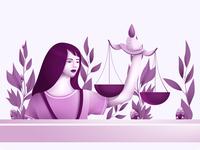 "web illustration ""Justice"""