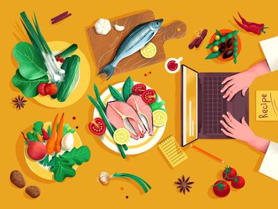 Food And Recipe Illustration VOL 2