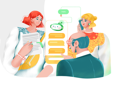 Alan - chat bot web illustration web chat app chatbot bot branding ui character illustration