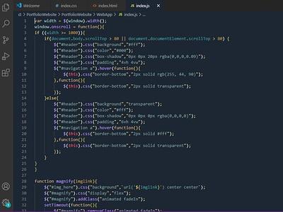 Visual Studio Theme Design css minimal flat ui typography design