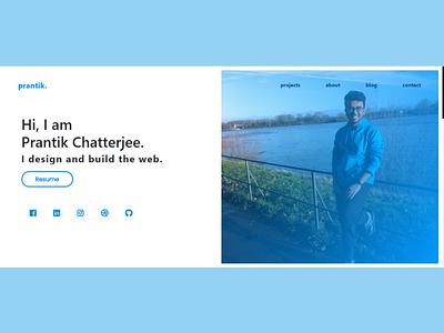 Personal Portfolio Website html css bootstrap html figma flat ui design