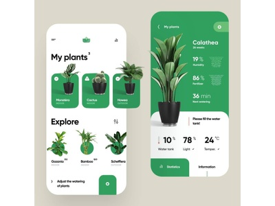 A ecommerce app for purchasing plants photoshop invision typography ux ui design