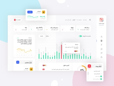 Xeniac Panel mobile ui dashboard illustration branding design app software interface landing page ui ux interface