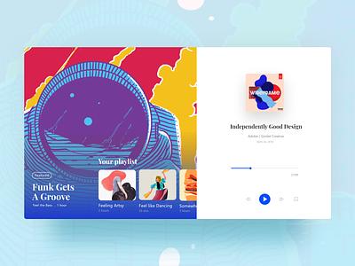 Podcast website ( concept ) logo typography dashboard design branding app landing page ui ux music app medium podcast user interface