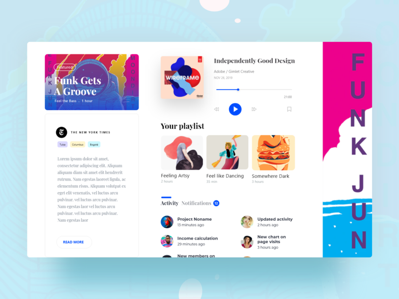 Podcast website ( concept ) - single page vector interface branding product design icon logo illustration design landing page ui ux dashboard app