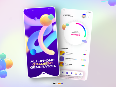Color/palette generator concept design ios app logo icon app color picker mobile app dashboard landing page web design typography product design print mobile illustration branding animation