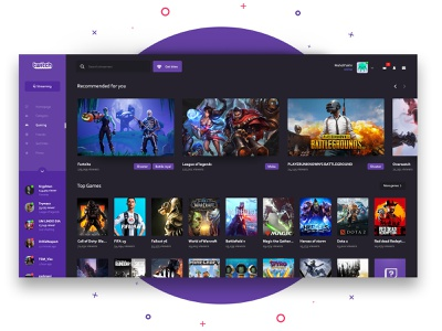 Twitch Redesign concept twitch app streaming app twitch redesign windows app dashboard landing page software interface web interface user interface ui ux interface ux ui