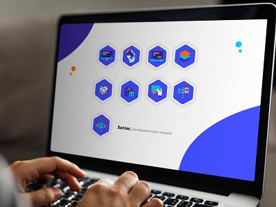 Xeniac icons pack illustration design icon illustration icon design technology icons technology logo icons pack icon pack icon typography branding vector logo design illustration