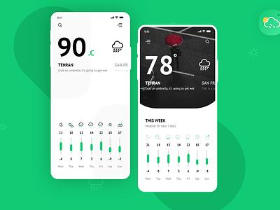 Weather app concept minimal mobile ui analytics dashboard web dashboard app typography illustration icon design branding weather app software interface web interface ui ux landing page user interface interface ux ui
