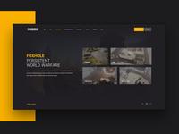 Foxholegame.com landing page