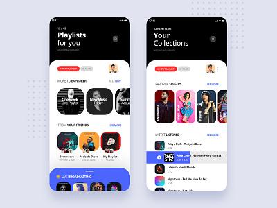 🎵 vector website typography web illustration icon dashboard app branding software interface design music app ui music app mobile apps mobile ui landing page user interface interface ux ui