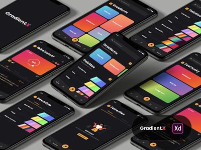 GradientX mobile ui illustration design app software interface ui ux user interface interface ux ui ios app