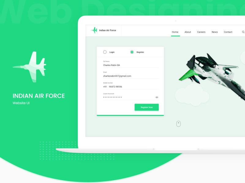 Indian Air Force Website Revamp logotype adobe xd user experience interaction design website ux ui