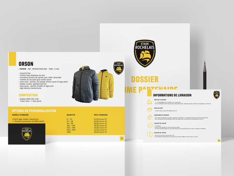 Stationery graphic design design products magazine catalogue yellow selling sell clother partnership branding brand mise en page layout adobe illustrator adobe indesign indesign illustrator adobe