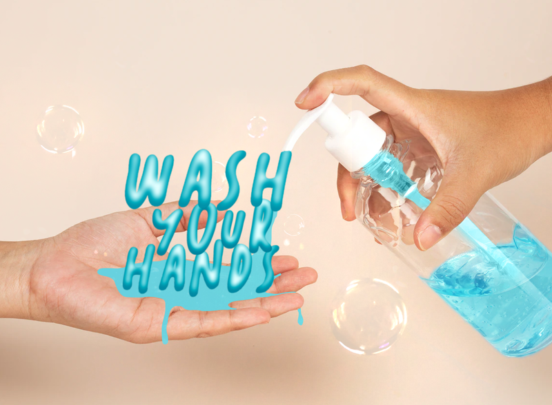 Typography bubbles wash your hands hands wash washing hands blue health coronavirus soap water photoshop adobe photoshop adobe digital text effect text letter letters lettering typography