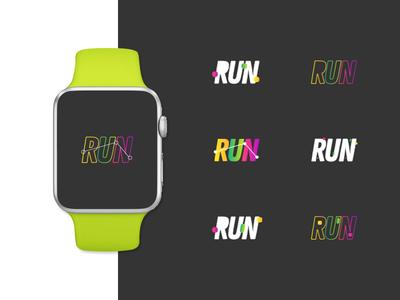 Running App 1/2 wire wireframe watch ui ux ui typography technology sport smart watch running app running vector run positive illustrator digital connected app adobe