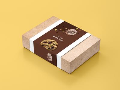 Cookie packaging 2/2 foodpackaging label bakery brand identity design homemade box cookie lover cookie packaging brand identity branding logo typography food colors design illustrator photoshop digital adobe