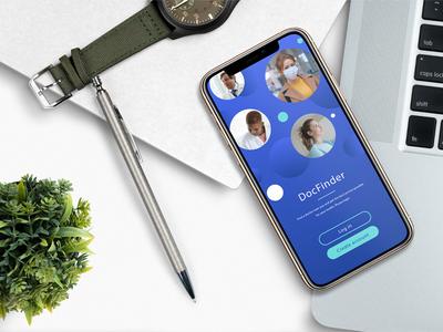 Ui DocFinder 2/2 vector phone smartphone emerald blue care doctor health app health medical app design app ui designer ui design ui design illustrator photoshop digital adobe