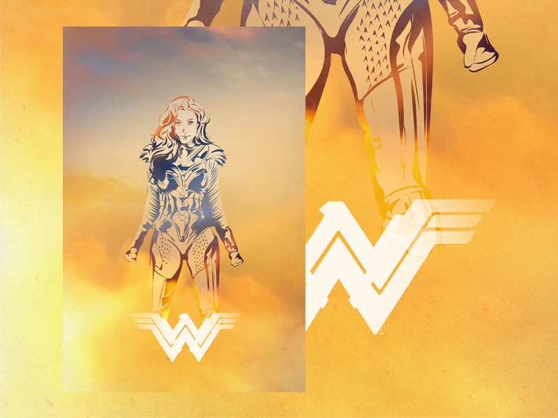 Wonder Woman poster hero comics dccomics dc comics dc 1984 wonder woman 1984 wonder woman wonderwoman ww vector design illustrator illustration drawing photoshop art digital adobe