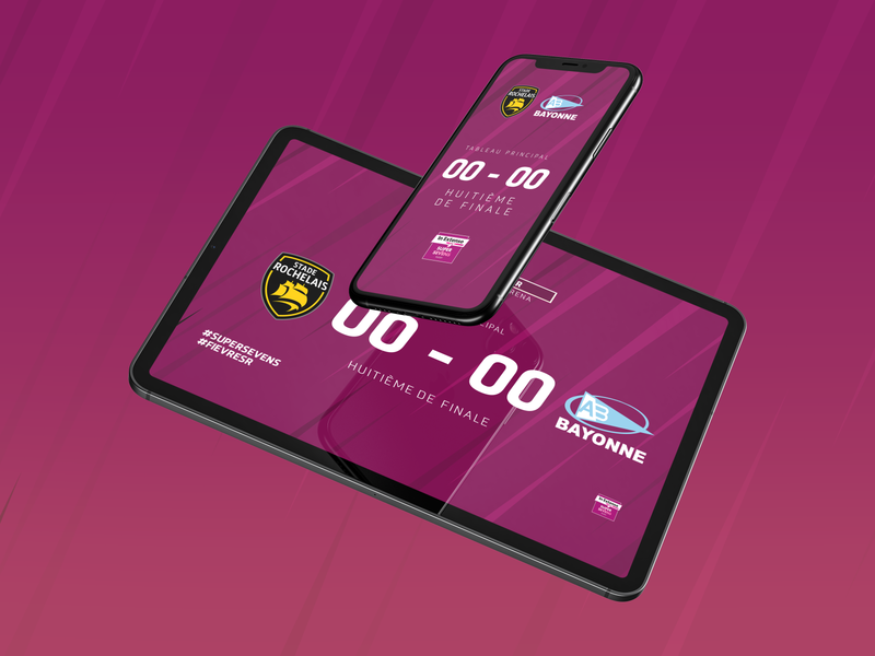 Supersevens phone tablet ipad inextenso supersevens sport purple pink rugby competition rugby instagram post instagram stories story indesign illustrator digital adobe
