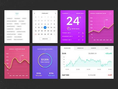 Azure UI Kit for FREE user interface psd template graph magazine news blog e-commerce ui azure free ui kit psd ui kit