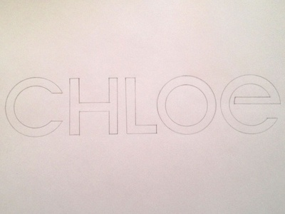First trace of sketch for Chloe