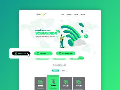 Ui Design for Ladingpage company internet onepage wordpress green connection tech web website landingpage adobe xd ui design webdesign