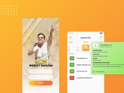 Personal Schedule - Agenda Pessoal de Wesley Safadão e Equipe schedule ios react native singer music design adobe xd app mobile ui