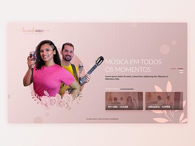 Musical UI Design for Web xd adobe xd adobexd photohsop web design clean design clean clean ui minimal web webdesign design ui music singers singer