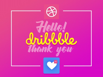 Hello Dribbble thanks dribbble hello ui