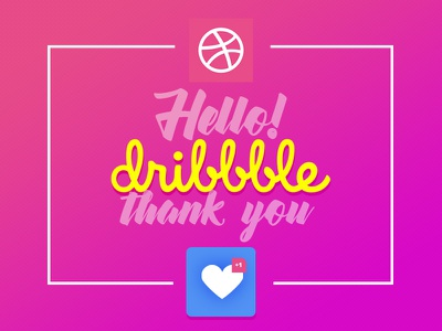 Hello Dribbble thanks dribbble hello ui