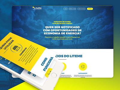 Lite Me Energy ladingpage ux webdesign ui energy