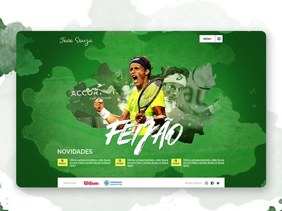 UI Web Design to tennis player design webdesign ui