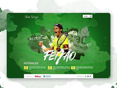 UI Web Design to tennis player design webdesign ui
