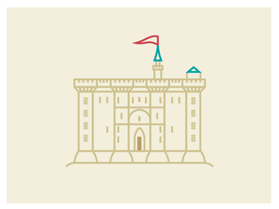 #Wonderworld #2 - Bastille castle vector revolution bastille shot salva paris illustration flag design fortress