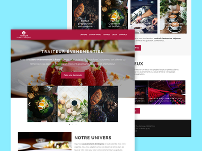 Nomad - Traiteur évenementiel salva design ux ui web website page desktop nomad caterer
