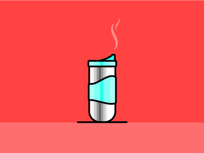 coffee thermos salva red vector illustrator illustration design thermos coffee