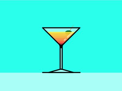 fresh cocktail vector salva orange yellow red illustrator illustration design fresh cocktail