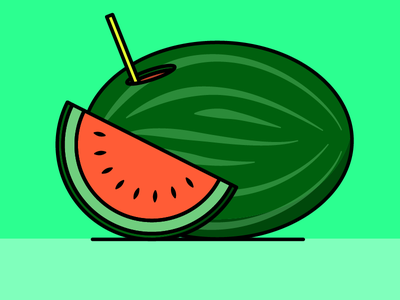 watermelon salva vector illustrator illustration green red fruit pastèque watermelon